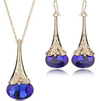 Water Drop Jewelry Set Necklace Earring