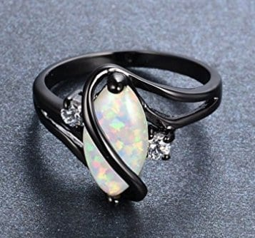 White Opal Black New Years Gift