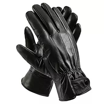black gloves leather