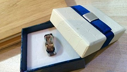 camo Polished Promise Matching Rings