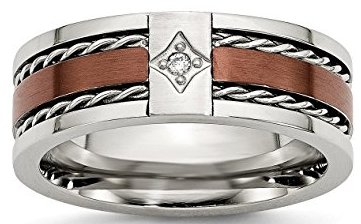 chocolate diamond wedding band
