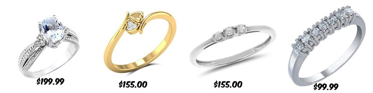 engagement rings under 200 - Average Cost Of A Wedding Ring