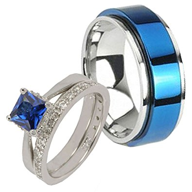 his and hers blue ring