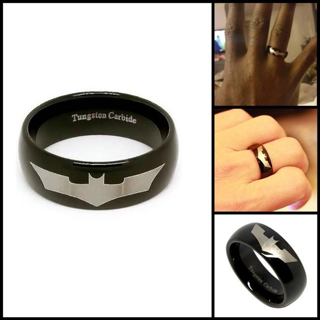 Black Batman Tungsten Wedding Ring
