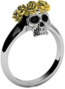 Gothic Crown Ring Gold Rose