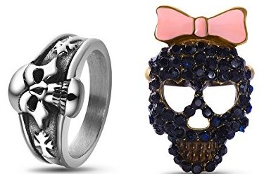 Him and Her Stainless Skull ring Set