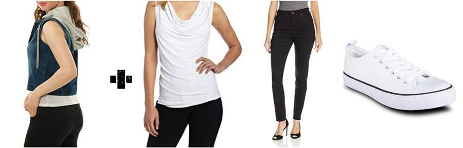 Hooded Cropped Jeans for Women with Matching Outfit