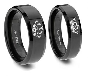 King and Queen Ring Set