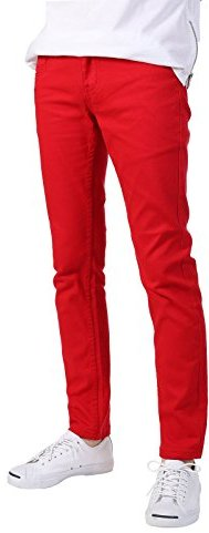 Mens Red Skinny Pants