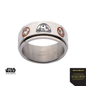 Men's Stainless Steel Star Wars BB-8 Spinner Ring