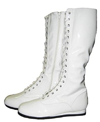 Mens White Costume Boots