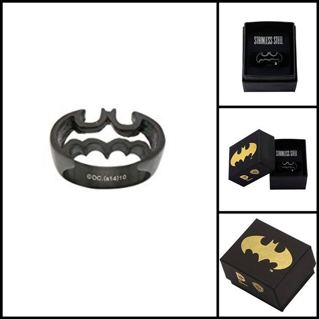 Stainless Steel Batman Silhouette Ring