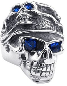 tribal gothic skull band for men - Skull Wedding Rings For Men