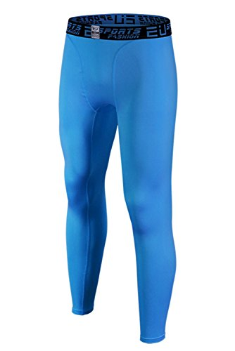 blue mens running tights