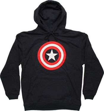 captain america pull over hoodie