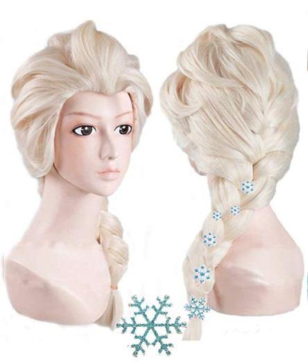 frozen elsa wig with pins