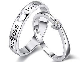 heart rings for couple