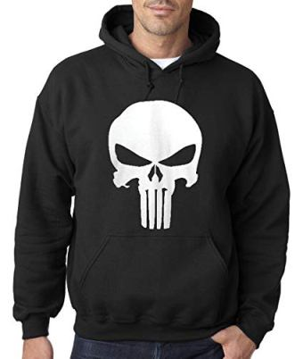 punisher pull over hoodie