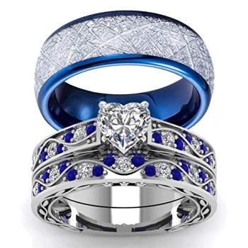 wedding blue rings