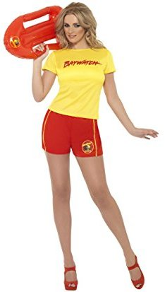 Baywatch yellow fancy dress costume