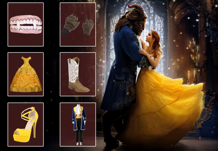 DIY Guide For Popular Beauty and the Beast Costumes  sc 1 st  Film Jackets & Beauty and The Beast Costumes | Apparels u0026 Accessories
