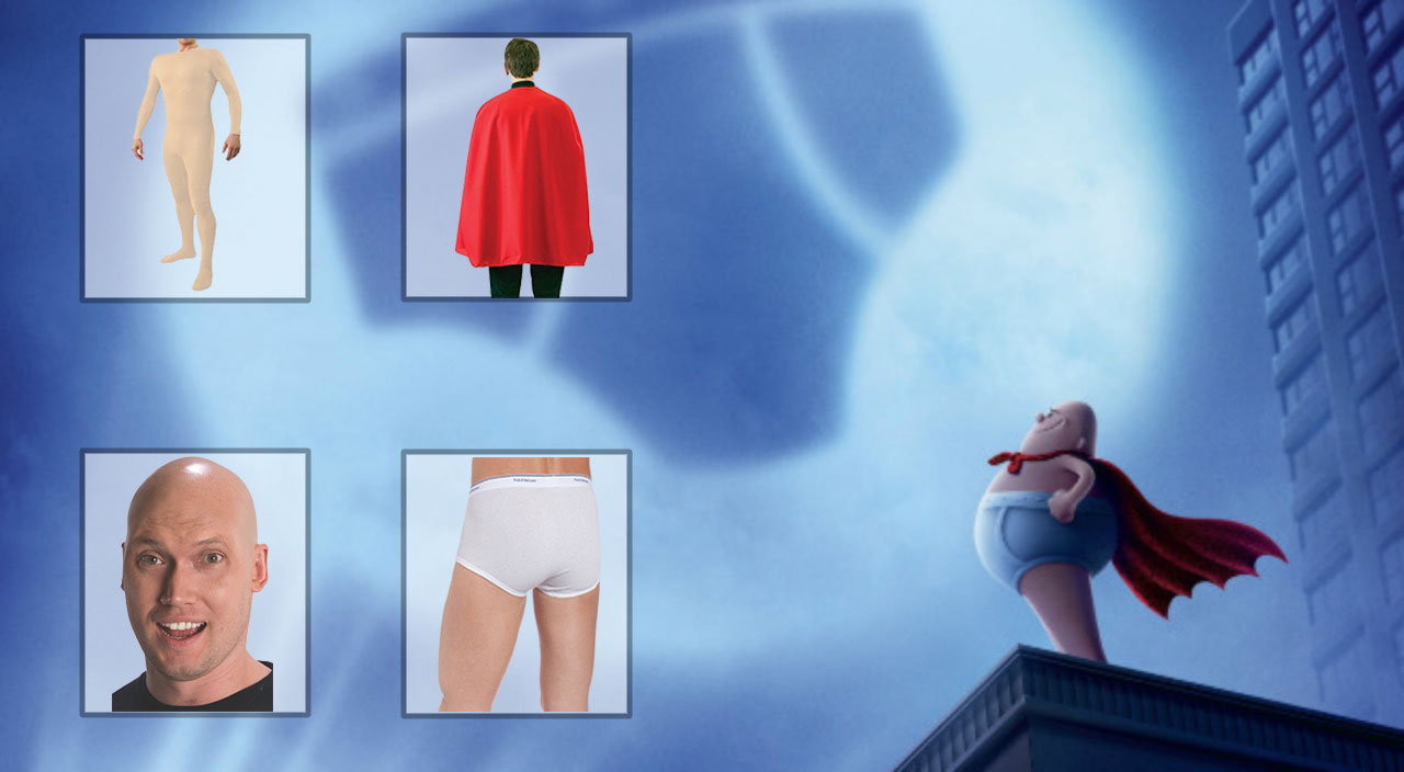 sc 1 st  Film Jackets & Captain Underpants Costume - Guide To Look Like a Hero