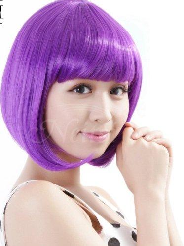Girl Cosplay purple Wig