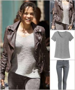 Letty Ortiz Outfit and Leather Jacket
