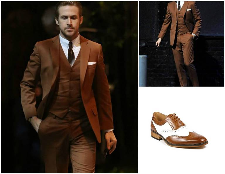Ryan Gosling Brown Suit