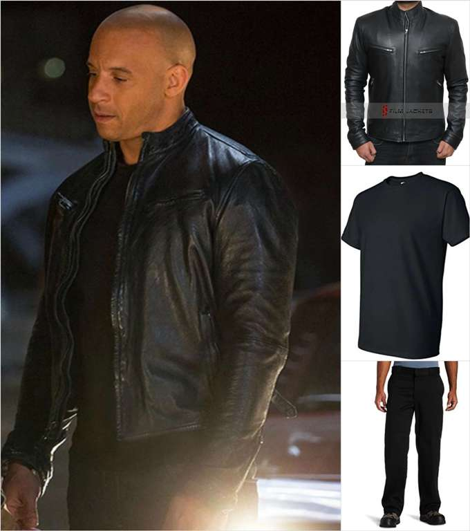 Vin Diesel Black Jacket Attire
