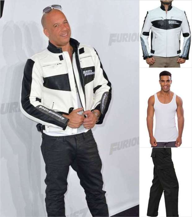 Vin Diesel White Jacket with Attire