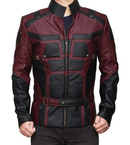 daredevil jacket maroon and black