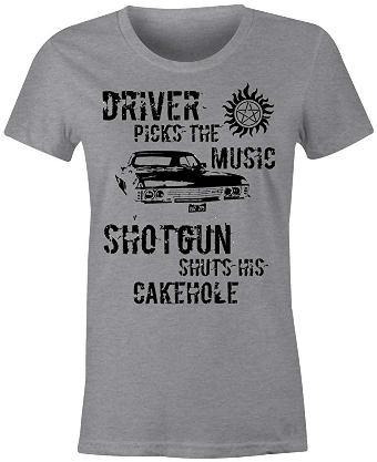 driver whtie t shirt