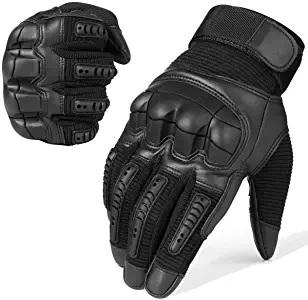gloves daredevil black leather