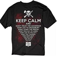 keep calm Tshirt walking dead