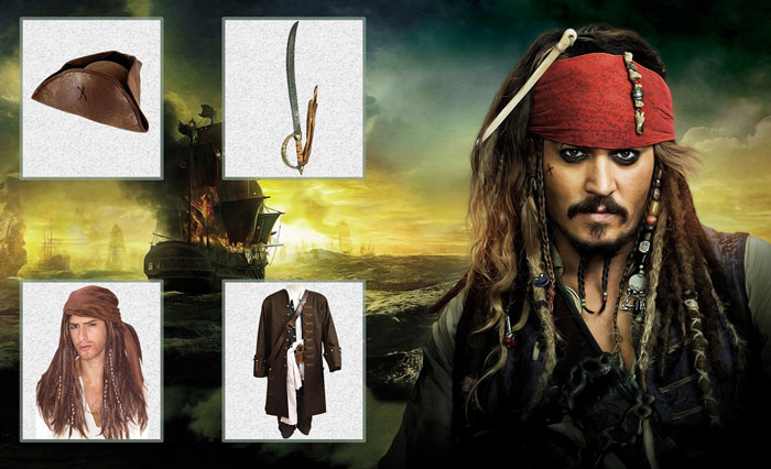 Interactive DIY Guide for Pirates of the Caribbean Costumes  sc 1 st  Film Jackets & Pirates of the Caribbean Costumes - Gimmick As The Legend
