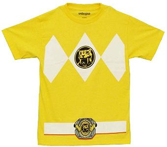 power rangers yellow shirt