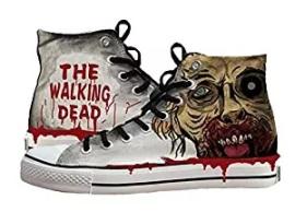 walking dead canvas shoes ladies