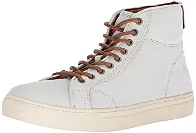 white sneaker sports brown shoes