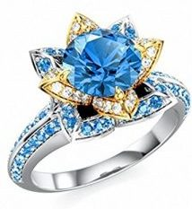 Disney-Princess-Blue-White-Accents-Ring