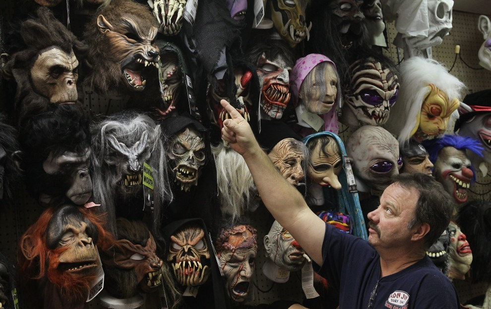 an overall collection of the halloween masks