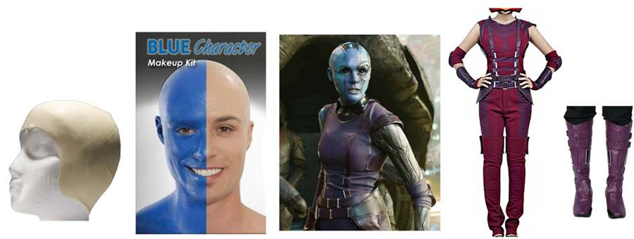 Guardians of the galaxy costumes quick and easy diy nebula costume guide solutioingenieria Choice Image