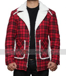 Ryan Shearling Detailed Red Checkred Jacket 259x300