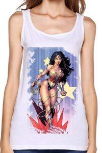 Wonder Woman Graphic White Tank 200x300
