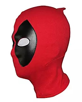 deadpool mask red black