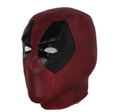 maroon deadpool mask latex