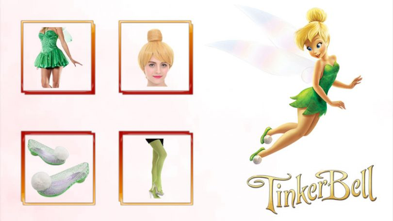 cd346a74e8e Tinkerbell Costume | Wings, Shoes and Dress