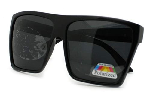 Black polarized lens glasses