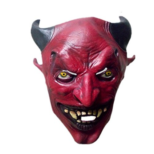 Devil Head Mask With Horns