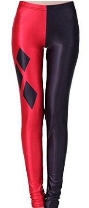 Harley Quinn Red And Black Tights